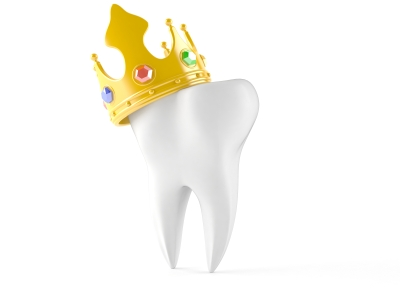 molar tooth rendered with crown with jewels